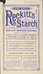Advert for Reckitt's Starch